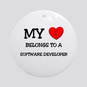 My Heart Belongs To A SOFTWARE DEVELOPER Ornament
